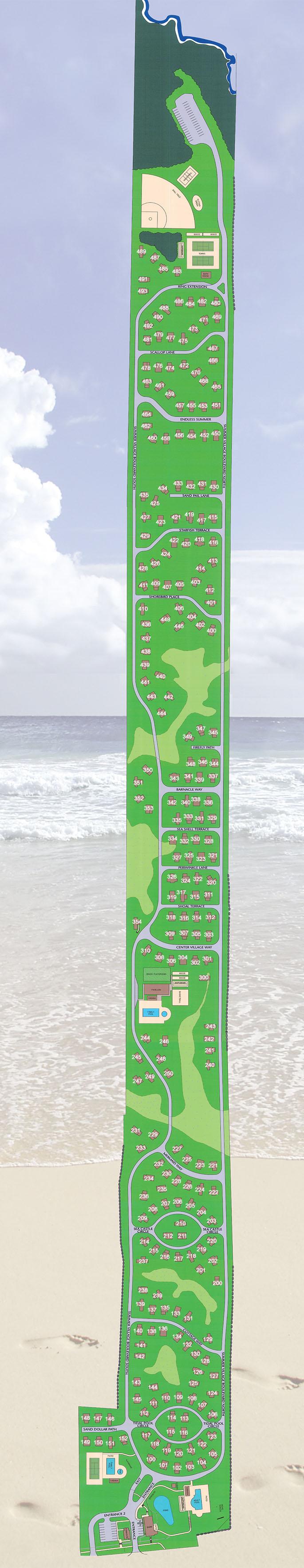 Map of cottages at Cottages at Summer Village